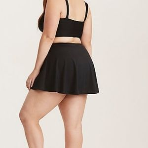 62eca1eb9262d torrid Swim - Torrid Black Skater Skirted Bikini Bottom